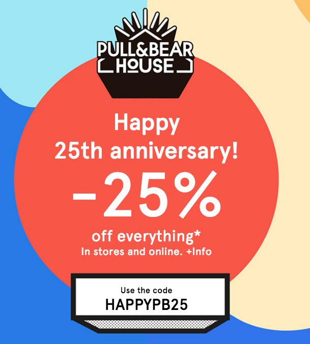 Nur heute 25% Geburtstagsrabatt auf alles ohne MBW (online & Filiale!) bei Pull & Bear