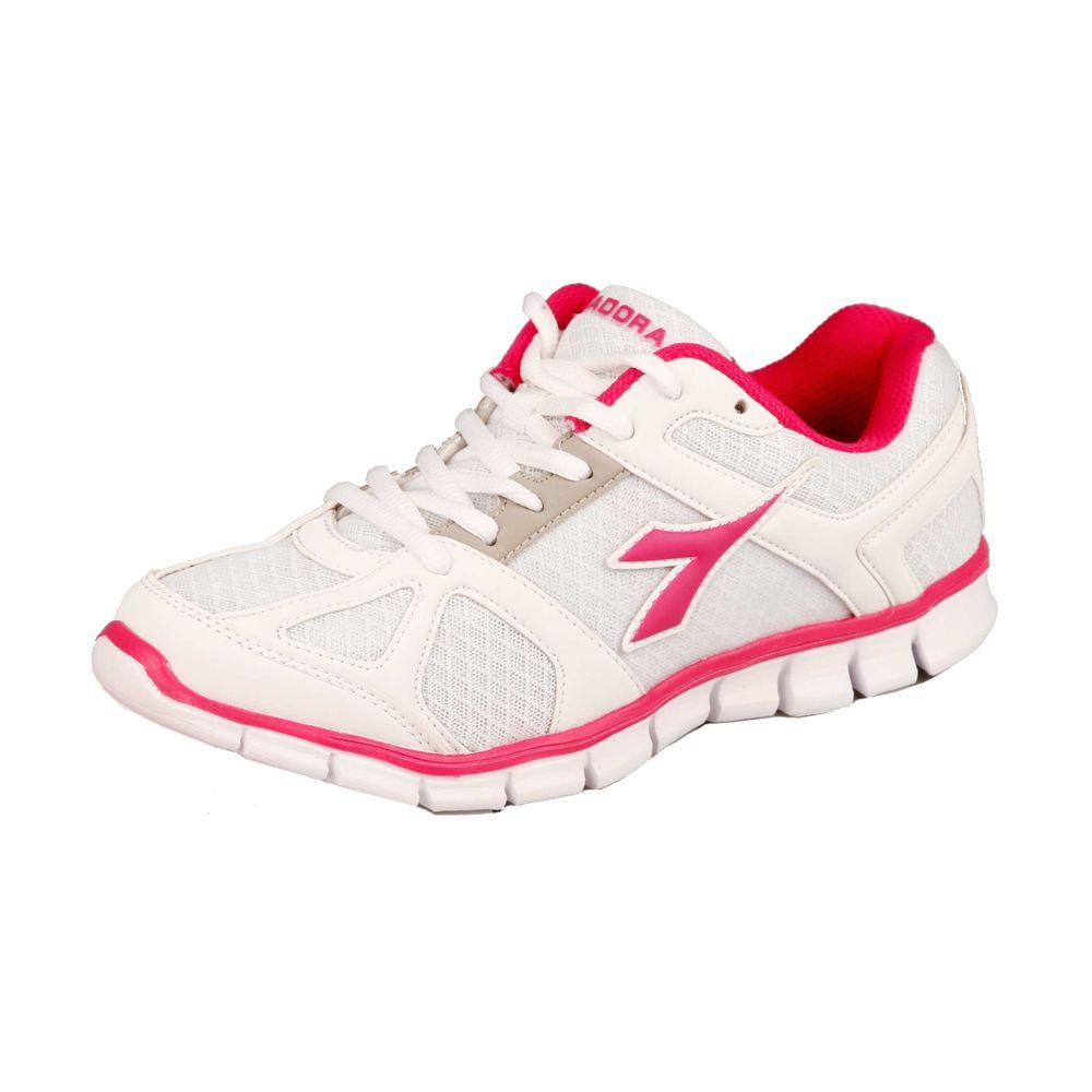Diadora Hawk Neutralschuh Damen - Weiß, Pink Gr. 36,5 40 42
