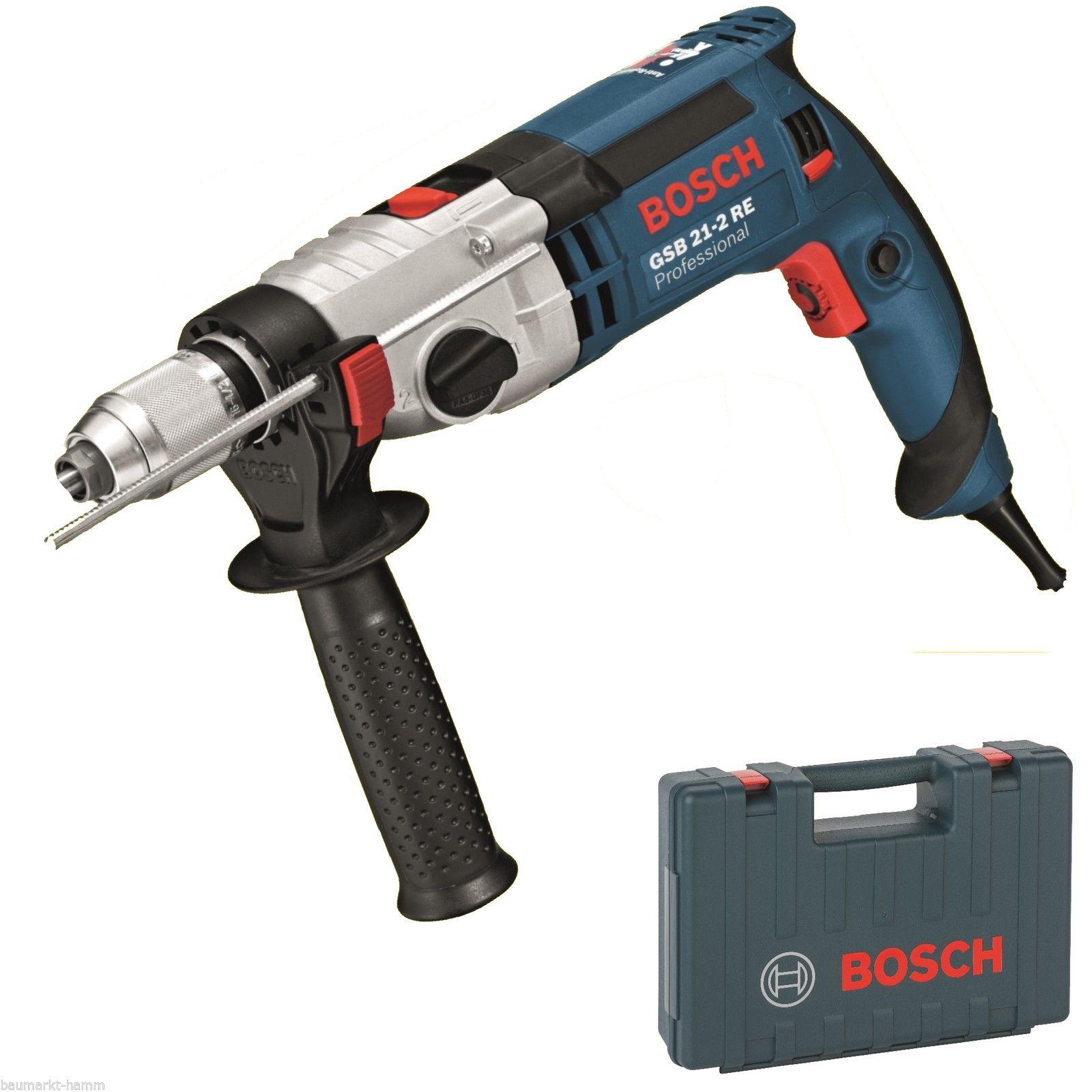 Bosch GSB 21-2 RE Professional inkl Koffer für 139,90€bei eBay