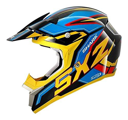 Shark Motorradhelm, Schwarz/Gelb/Blau ab 24,10€ @amazon