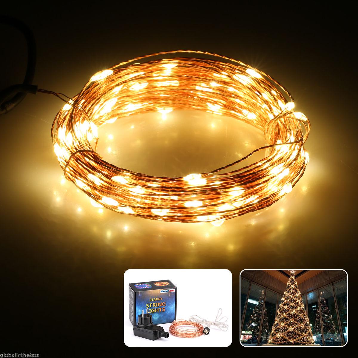 10M LED Kupfer Schnur-Licht-warme weiße flexible Lichterketten