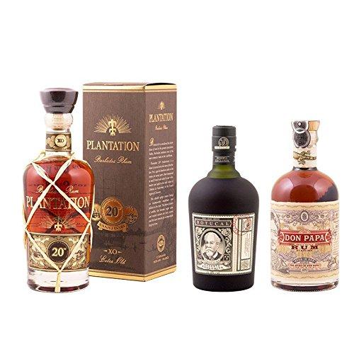 """Seefahrer Rum"" Dreier-Set: Botucal 12 Years, Plantation XO und Don Papa @amazon / Delinero"