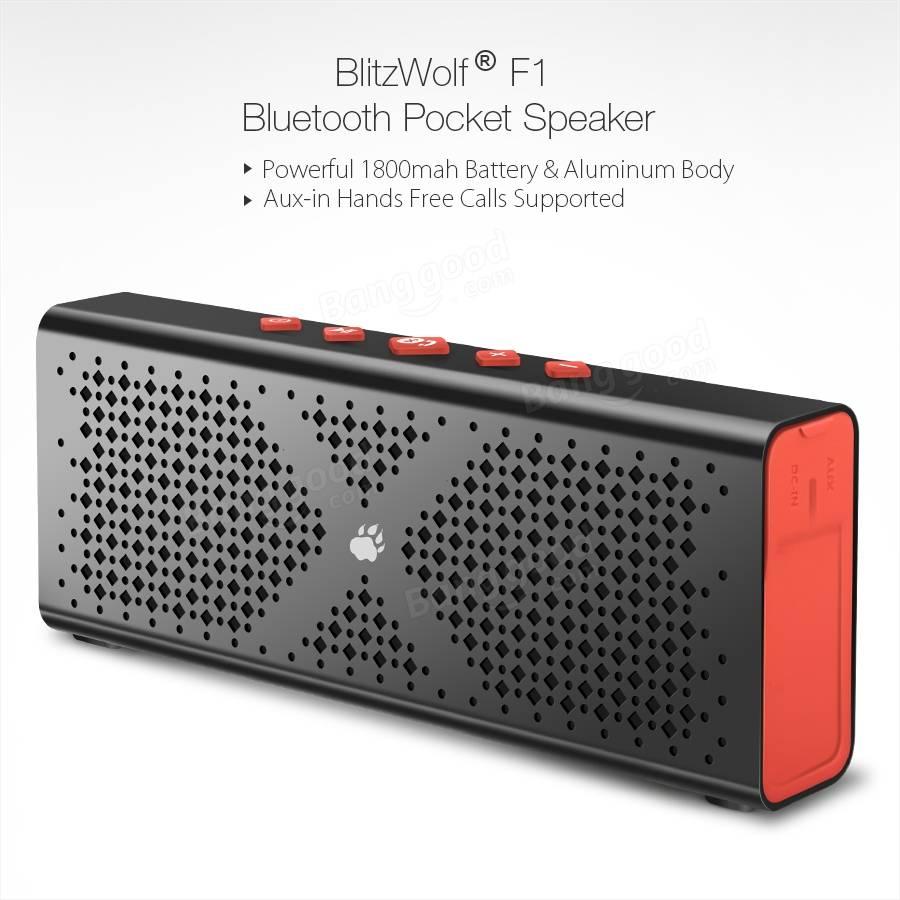 [Banggood] BlitzWolf® F1 IPX4 1800mah Bluetooth Speaker