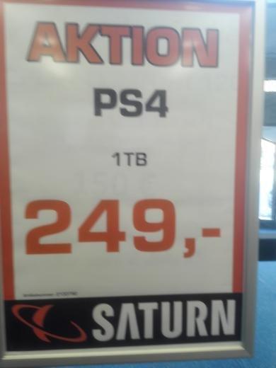 Playstation 4 1TB + Spiel Gesehen in Saturn Wuppertal auch Bundesweit & Online