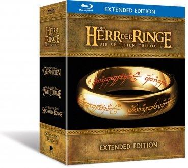 (Alphamovies) Der Herr der Ringe - Spielfilm Trilogie (Extended Edition - Blu-ray) für 37,94€