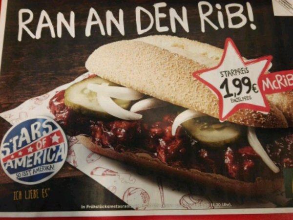 McRib für 1,99 € (bundesweit)