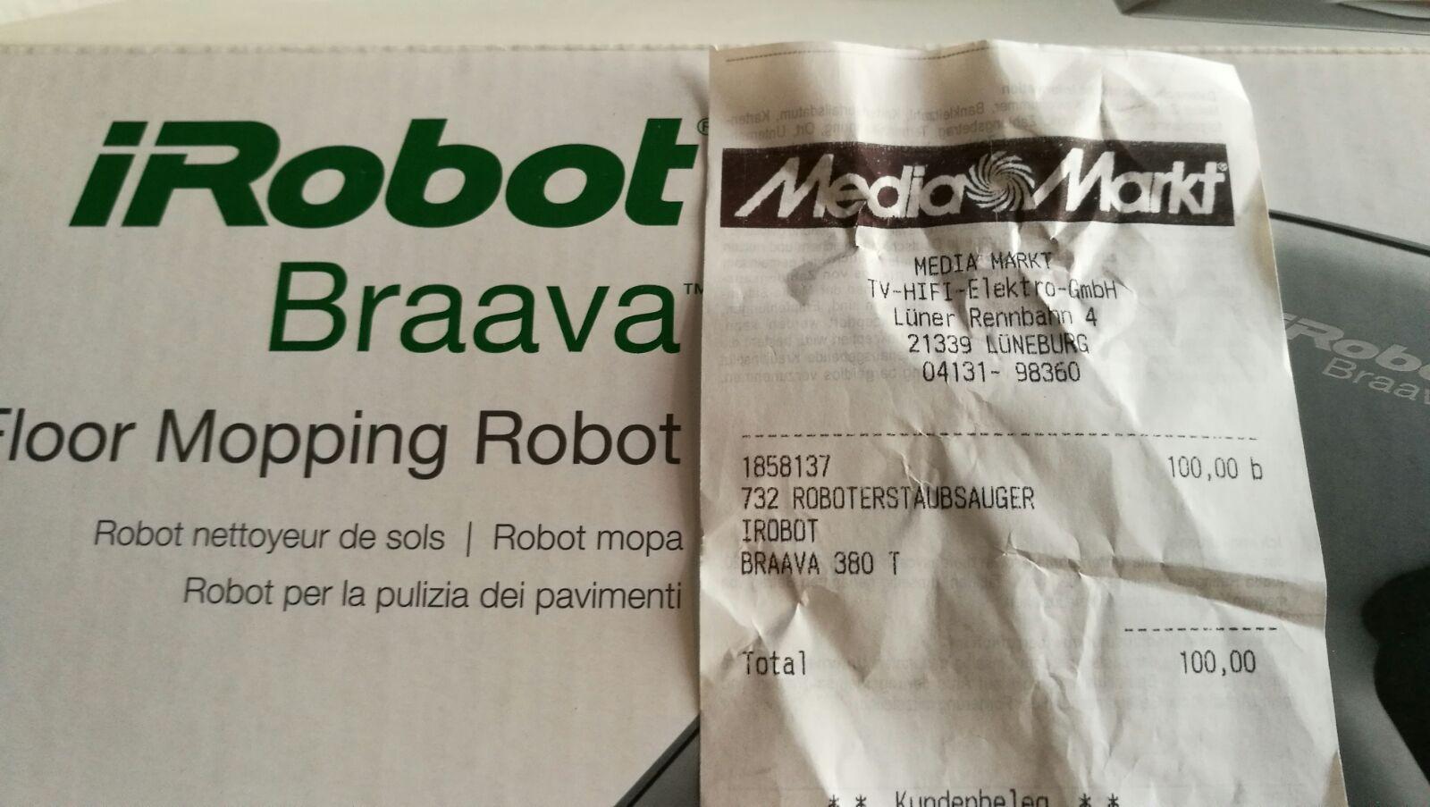 Media Markt Lüneburg: iRobot Braava 380t für 100€
