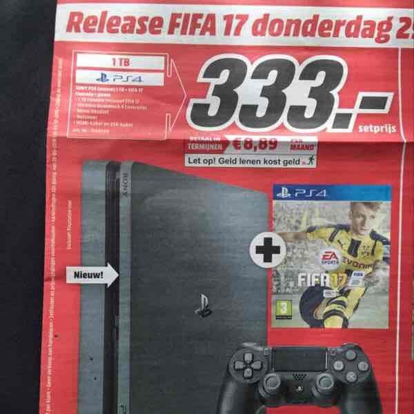 [Lokal Media Markt NL] PlayStation 4 Slim 1TB + FIFA 17