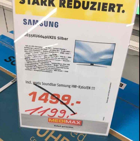 ***MEDIMAX Haltern am See ***Samsung UE55KU6649 günstigster Internetpreis und noch eine kostenlose Soundbar !!!
