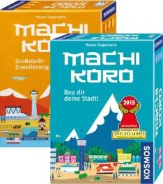 Machi Koro • Grundspiel + Erweiterung (Großstadt) - Brettspiel - BoardGameGeek 6,8 und 7,38 [thalia.de]