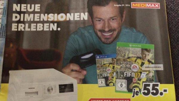 FIFA 17 PS4 Xbox One 55€ MEDIMAX lokal?
