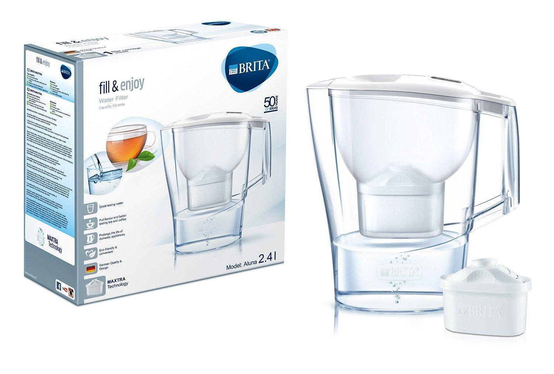 BRITA Wasserfilter Aluna Cool, weiß für 8€ [Amazon Prime]