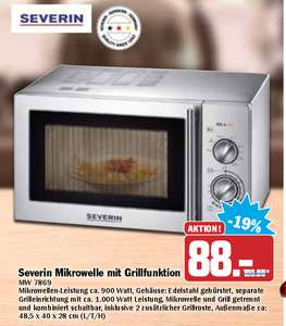 [Hit] Severin Mikrowelle mit Grillfunktion MW 7869  88€