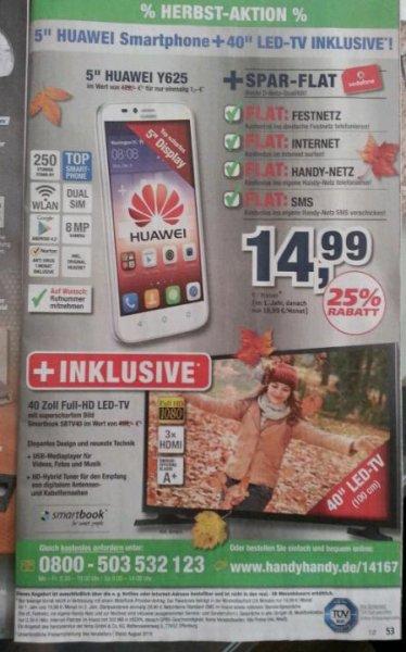 Huawei Y625 + 40x27 LED TV no name  + d2 allnet flat