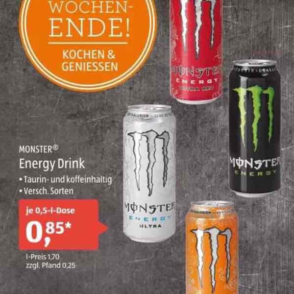 [ALDI Süd] Monster Energy am 08.10. für 0,85€