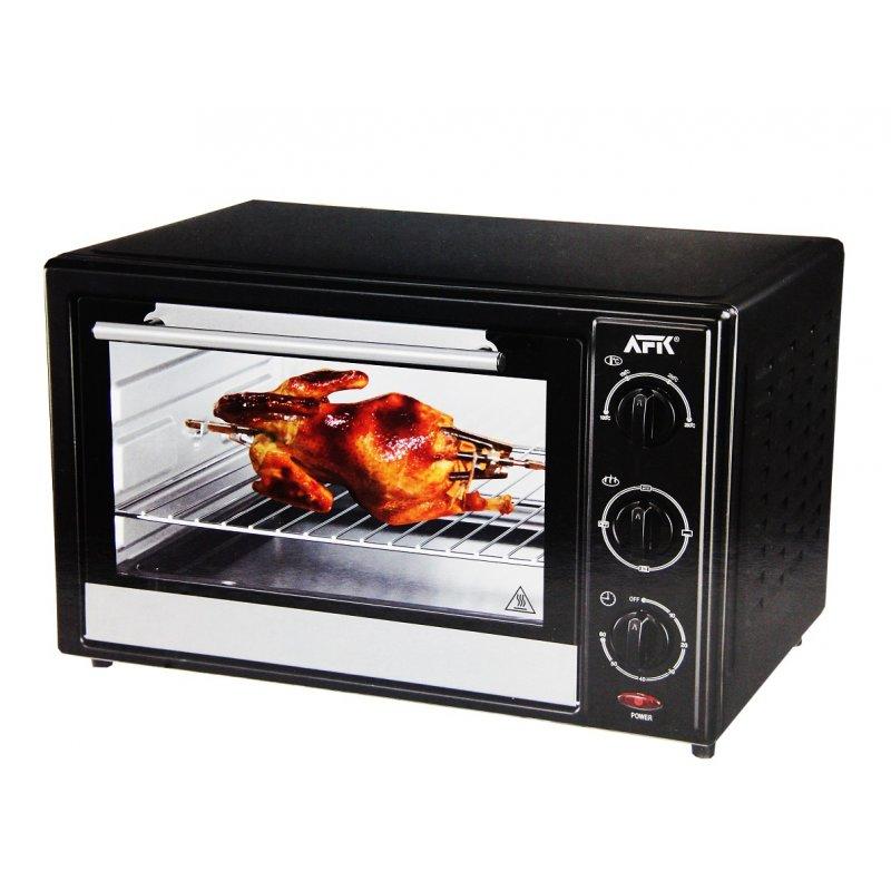 Backofen mit Drehspieß 48L Grill Minibackofen Ofen Timer 2000W AFK BO-48R