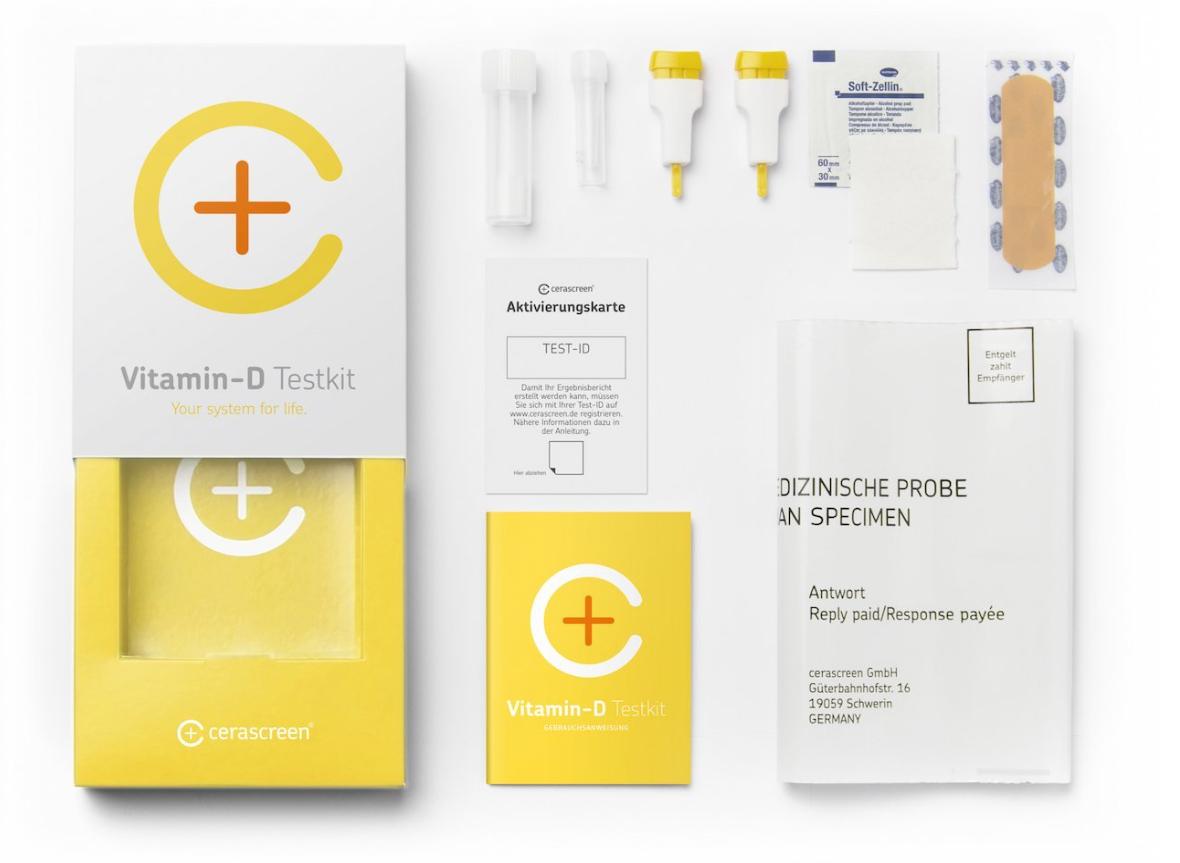cerascreen 4 für 3 Angebot bei Amazon - Vitamin D Test für 21,75 und weitere Tests