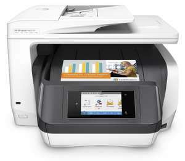 HP OfficeJet Pro 8730 Tintenstrahl-Multifunktionsgerät (A4, 4-in-1, Drucker, Kopierer, Scanner, Fax, Duplex, WLAN) ab 197 €