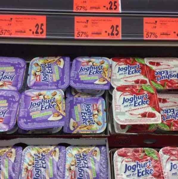 Müller Joghurt mit der Ecke fast bundesweit  57% Rabatt