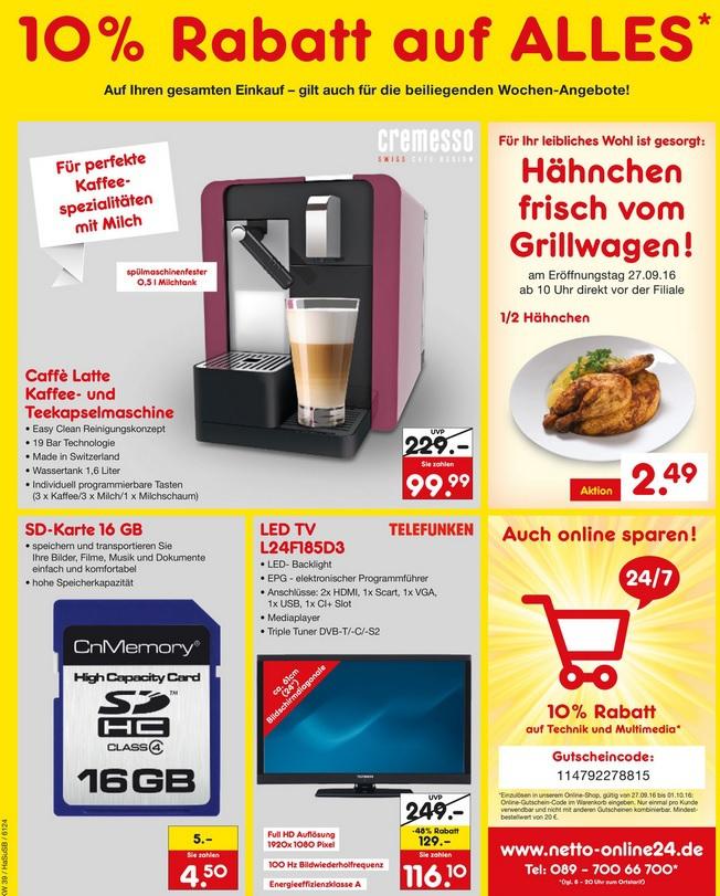 """[lokal Oer-Erkenschwick] Telefunken 24"""" Full HD TV mit Triple-Tuner für 116,10€ @ Netto,"""