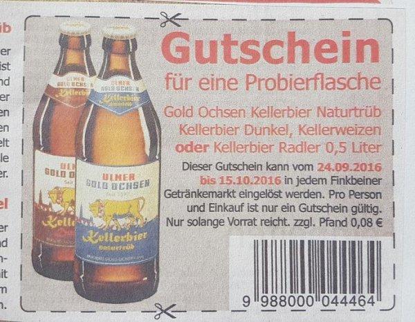 Freibier bei Finkbeiner (1 Flasche) zzgl. 8 Cent Pfand