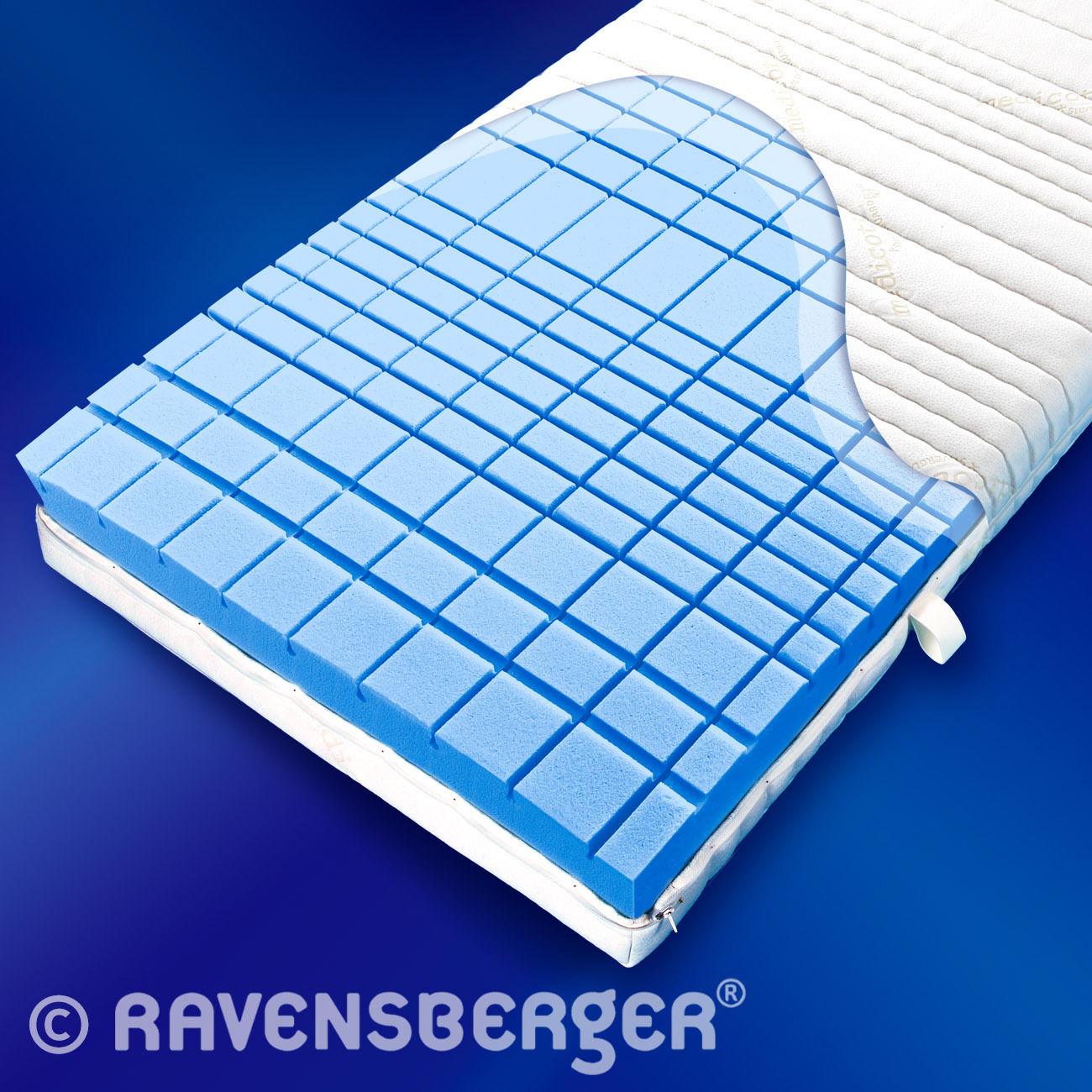 Ravensberger STRUKTURA-MED 60 7 Zonen HYLEX HR Kaltschaum Matratze H 19 cm H2-H4