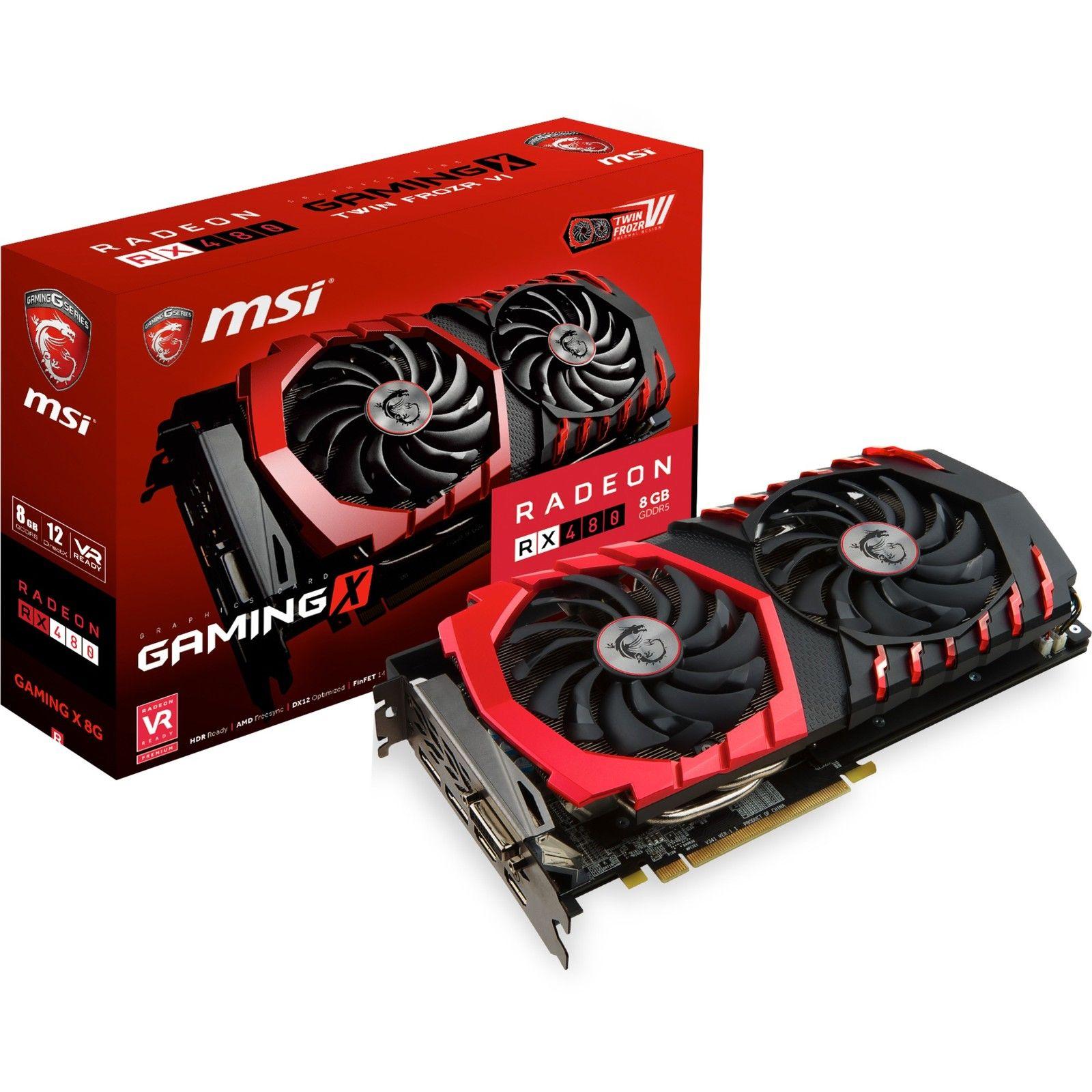 MSI Radeon RX 480 Gaming X 8G, Grafikkarte