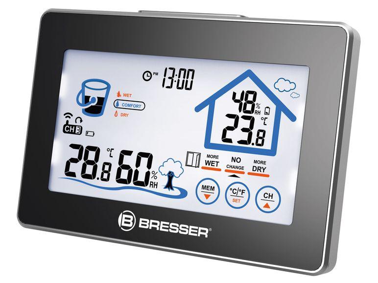 Funk Hygrometer / Thermometer / Uhr mit Touchscreen von BRESSER