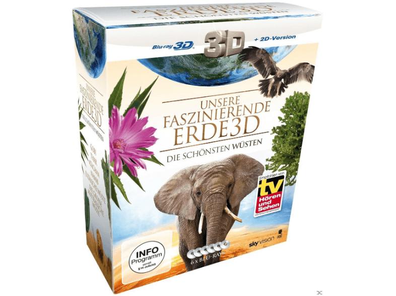 [MediaMarkt] Unsere faszinierende Erde - Die schönsten Wüsten (auf 3D Blu-ray + 2D) für 22,00 € statt 59,90 €