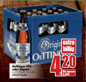 [E-Center in Zeven] 20er Kasten Oettinger Pils/Export/Radler für 4,20€