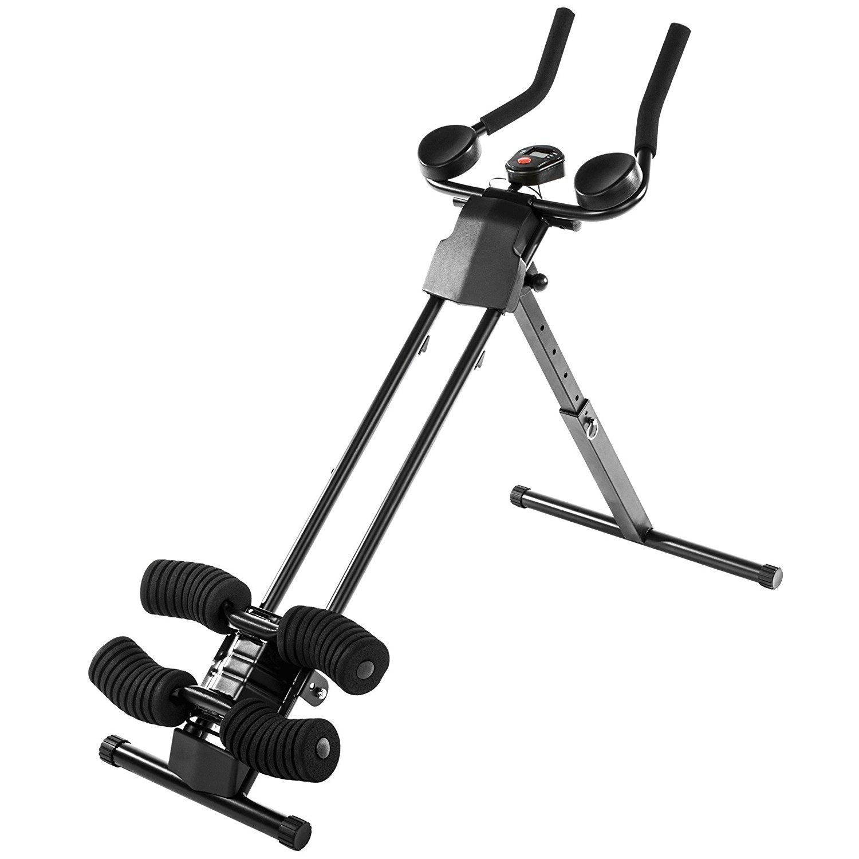 [@Dealclub] Ultrasport Bauchtrainer Ultra 150 Curved- Fitness Power AB Trainer, faltbar [+3% Shoop]