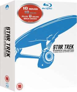 (Zavvi) Star Trek 1-10 - Remastered Box Set Blu-ray deutsche Tonspur