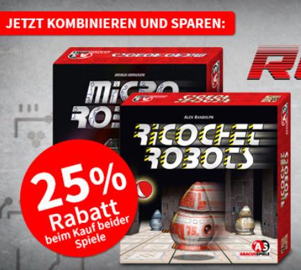 Abacusspiele Ricochet Robots + Micro Robots bei [Spiele-Offensive] für 26,49€ inkl. Versand. 35% unter idealo / Neukunden sogar 42%