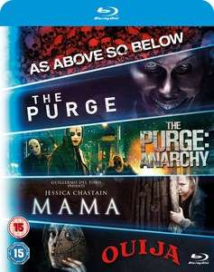 (Zavvi) Blu-ray Starter Pack - Includues Mama, Purge 1, Purge: Anarchy, OUIJA, As Above, So Below Blu-ray dt Tonspur