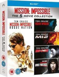 (Zavvi) Mission Impossible 1-5 Box (Blu-ray) für 18,29€