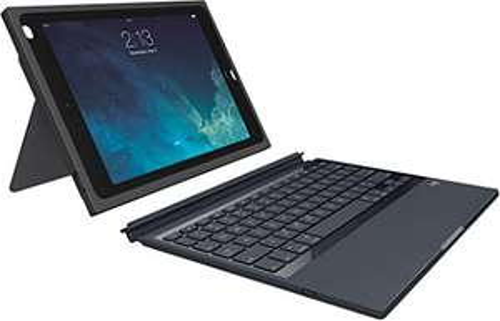 Logitech Logi BLOK Schutzhülle Ipad Air 2 mit QWERTZ Tastatur