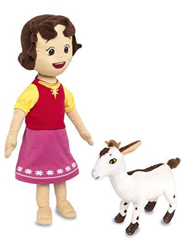 [Amazon plus] Heidi Plüschfigur 30 cm mit Ziege für 5,09 € Pvg 23,73 €