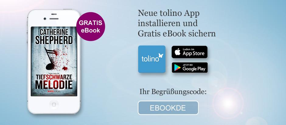 """[eBook.de] gratis eBook """"Tiefschwarze Melodie"""" bei Installation der tolino App"""