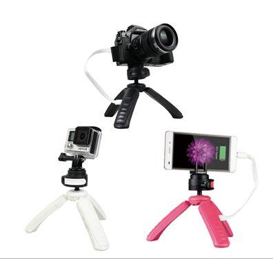 Amazon.de: wieder verfügbar: Stativ für Kameras, GoPros und Handy mit eingebauter Powerbank