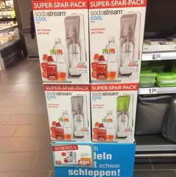 Sodastream Cool SUPER-SPAR-PACK REWE Regensburg