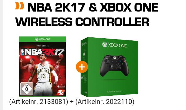 NBA 2K17 inklusive Wireless Controller für Xbox One und PlayStation 4
