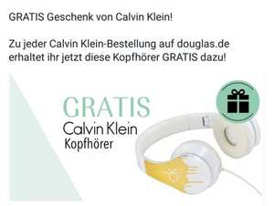 Douglas: Calvin Klein Kopfhörer Kostenlos