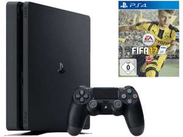 [Media Markt] SONY PlayStation 4 Slim Konsole 1TB Schwarz + FIFA 17 (bis 29.09.)