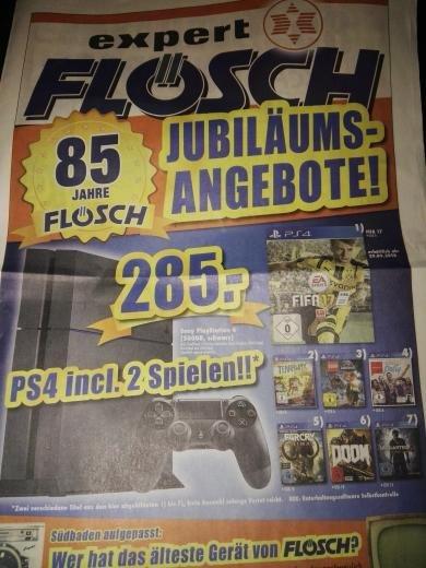 [Lokal Südbaden] PlayStation 4 500 GB inkl. zwei Spielen