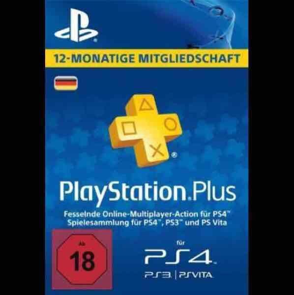 12 Monate Playstation Plus PS+ für 39,66€