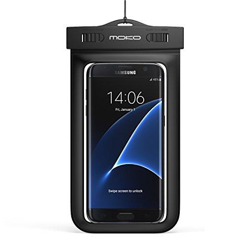 [Amazon Prime] MoKo Wasserdichte Hülle mit Halsband und Armband für Smartphones, 4-5.7 Zoll