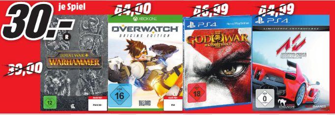[Lokal Mediamarkt Velbert] Overwatch: Origins Edition (PS4/XB1) oder Assetto Corsa - [PS4] für je 30,-€