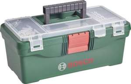 Bosch Toolbox Werkzeugkasten inkl. Bohrer- und Bit-Sortiment 59tlg. für 14,99€ [Ebay]