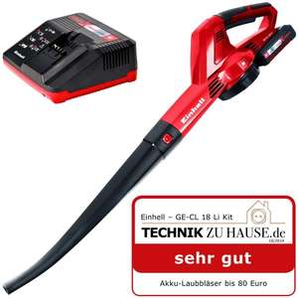 Einhell Akku-Laubbläser GE-CL 18 Li Kit (1,5 Ah Akku und Ladegerät) für 57€
