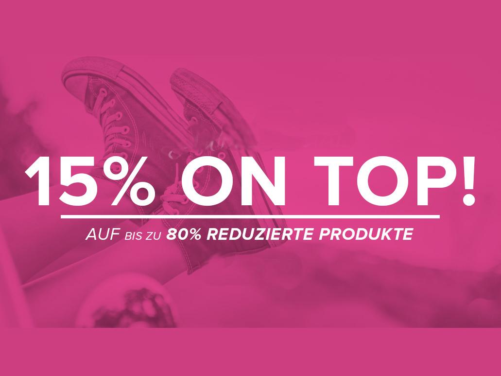 15% ON TOp für die bis zu 80% reduzierten Sport-Artikel bei Vaola